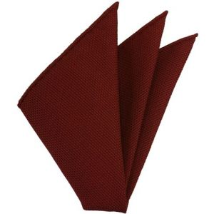 Medium Red Piccola Grenadine Silk Pocket Squares # 2