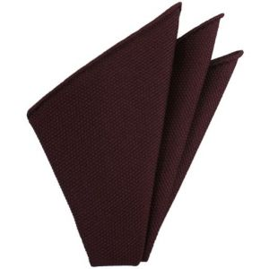 Burgundy Piccola Grenadine Silk Pocket Squares # 3