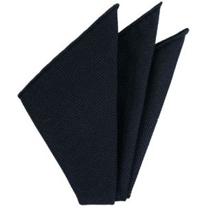 Midnight Blue Piccola Grenadine Silk Pocket Squares # 7
