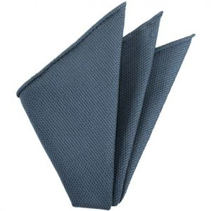 Slate Blue Piccola Grenadine Silk Pocket Squares # 9