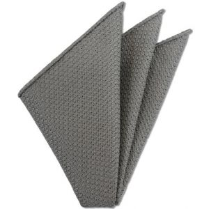 Gray Prometeo Grenadine Silk Pocket Square # 11