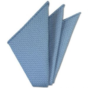 Power Blue Prometeo Grenadine Silk Pocket Square # 12
