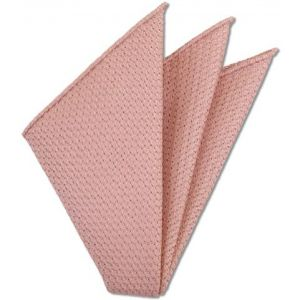 Peach Prometeo Grenadine Silk Pocket Square # 15