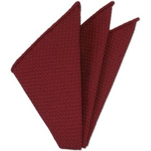 Red Prometeo Grenadine Silk Pocket Square # 1