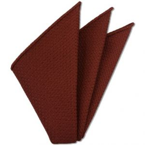 Brick Prometeo Grenadine Silk Pocket Square # 20