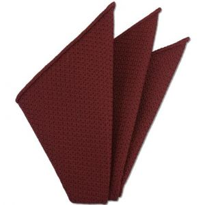 Medium Red Prometeo Grenadine Silk Pocket Square # 2