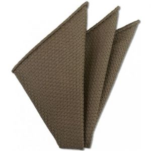Light Brown Prometeo Grenadine Silk Pocket Square # 4