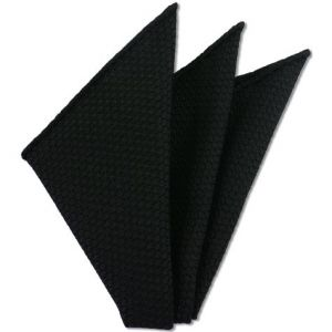 Black Prometeo Grenadine Silk Pocket Square # 5