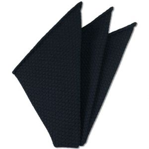 Midnight Blue Prometeo Grenadine Silk Pocket Square # 6