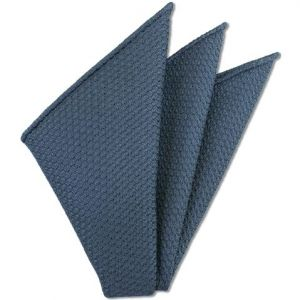 Slate Blue Prometeo Grenadine Silk Pocket Square # 8