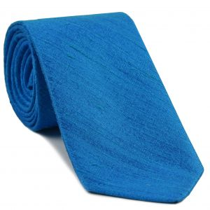 Ocean Blue Thai Rough Silk Tie # 5