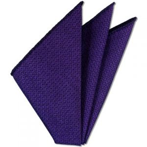 Purple Brocade Cotton Pocket Square # 2