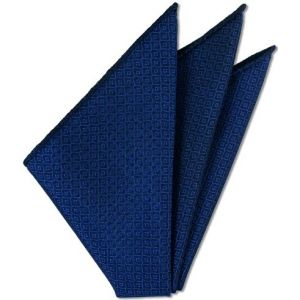 Dark Blue Brocade Cotton Pocket Square # 4