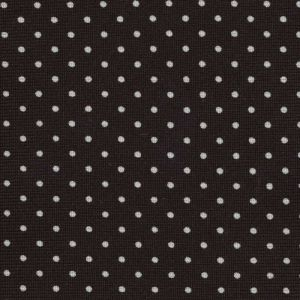 White On Bitter Chocolate Printed Pin Dot Silk Tie #2