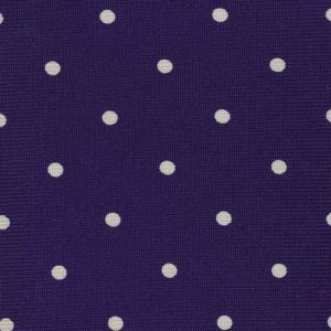 White On Purple Printed Dot Silk Tie #4