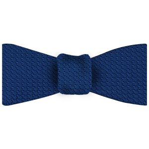 Dark Blue Grenadine Grossa Silk Bow Tie #13