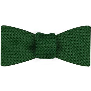 Bottle Green Grenadine Silk Bow Tie #17Bottle Green Grenadine Grossa Silk Bow Tie #17