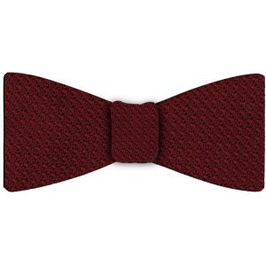 Dark Red Grenadine Grossa Silk Bow Tie #2