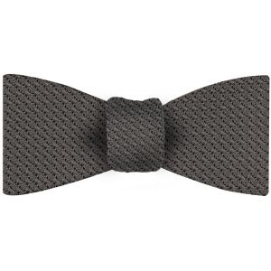 Charcoal Gray Grenadine Grossa Silk Bow Tie #20