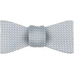 Sky Blue/Silver Grenadine Grossa Silk  Bow Tie #22