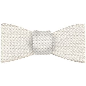 White Grenadine Silk Bow Tie #24White Grenadine Grossa Silk Bow Tie #24