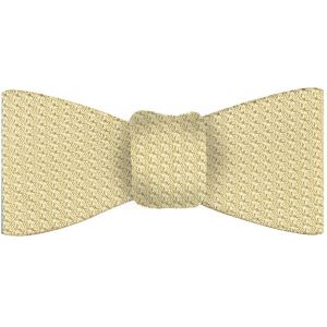 Light Yellow Grenadine Grossa Silk Bow Tie #26