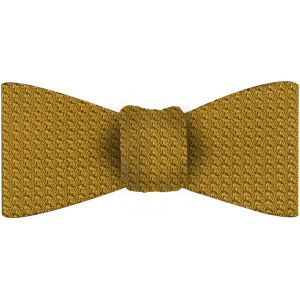 Dark Gold Grenadine Grossa Silk Bow Tie #28