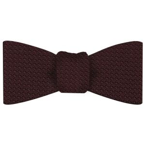 Burgundy Grenadine Grossa Silk Bow Tie #3