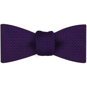 Purple Grenadine Grossa Silk Bow Tie #34