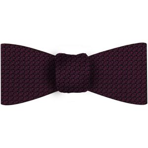 Dark Purple/Black Grenadine Grossa Silk Bow Tie #35