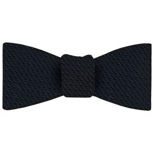 Midnight Blue Grenadine Grossa Silk Bow Tie #8