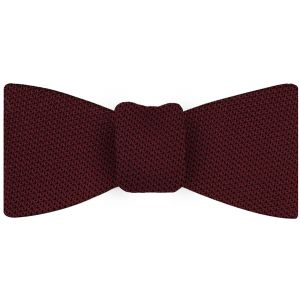 Dark Red Grenadine Fina Silk Bow Tie #2