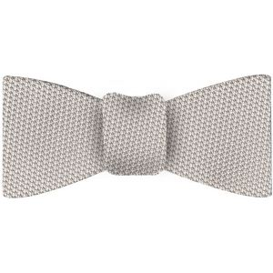 Silver/Brown Grenadine Fina Silk Tie #23