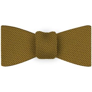Dark Gold Grenadine Fina Silk Tie #28