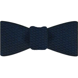 Midnight Blue Prometeo Grenadine Silk Bow Tie #6