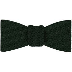 Forest Green Prometeo Grenadine Silk Bow Tie #9
