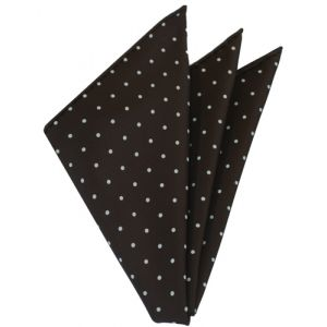 White On Bitter Chocolate Printed Dot Silk Tie #2