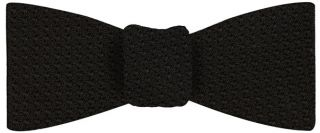 Black Grenadine Grossa Silk Bow Tie #7