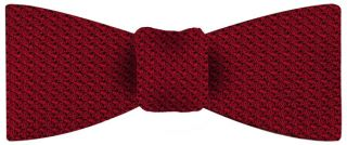 Red Grenadine Grossa Silk Bow Tie #1