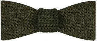 Olive Green Grenadine Grossa Silk Bow Tie #18