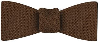 Chocolate Grenadine Grossa Silk Bow Tie #4
