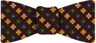 Atkinsons Printed Irish Poplin Bow Tie #12