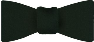 Forest Green Satin Silk Bow Tie #15