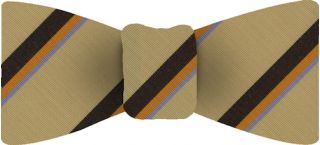 Atkinsons Striped Irish Poplin Bow Tie #46