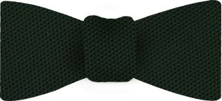Forest Green Piccola Grenadine Silk Bow Tie #11