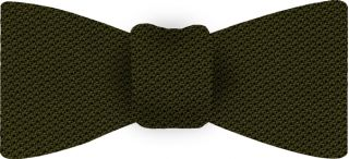Olive Green Piccola Grenadine Silk Bow Tie #12