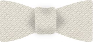 White Piccola Grenadine Silk Bow Tie #15