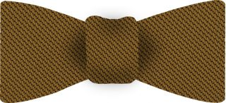 Dark Gold Piccola Grenadine Silk Bow Tie #17
