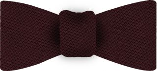 Burgundy Piccola Grenadine Silk Bow Tie #3