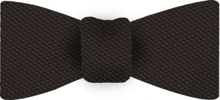 Bitter Chocolate Piccola Grenadine Silk Bow Tie #5